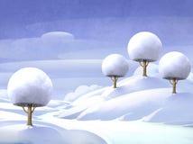 Winter landscape. Digital illustration of a winter landscape Stock Image