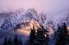 Winter landscape. From home: brasov-romania Royalty Free Stock Image