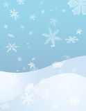 Winter Landscape. Flurries fall onto gentle rolling hills Royalty Free Illustration