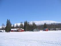 Winter landscape. Norwegian winter landscape Stock Images