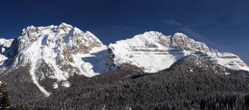 WINTER LANDSCAPE. View of mountains of Madonna di Campiglio Royalty Free Stock Image