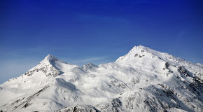 WINTER LANDSCAPE. View of mountains of the Swiss Stock Image