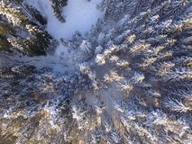Winter landscape aerial Royalty Free Stock Image