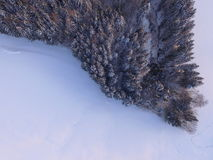 Winter landscape aerial Stock Photography