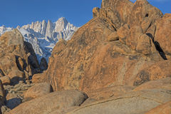 Winter Mt. Whitney, Alabama Hills Stock Images