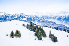 Winter landscape.  Alpine Alps mountain  Royalty Free Stock Image