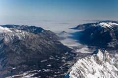 Winter landscape in alps Stock Photography