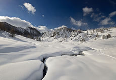 Winter landscape in the Alps Royalty Free Stock Images