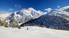 Winter landscape in the Alps Royalty Free Stock Image