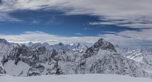 Winter landscape in the alps. Royalty Free Stock Image