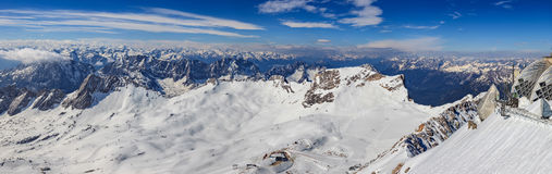 Winter landscape of Alps mountain Royalty Free Stock Photo