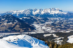 Winter landscape in Alps Royalty Free Stock Photos