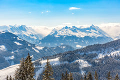 Winter landscape in Alps Stock Images