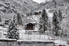 Winter landscape in the Alps Royalty Free Stock Photography