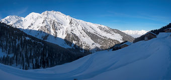 Winter landscape in the Alps Stock Image