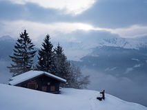 Winter landscape in the Alps Royalty Free Stock Photos