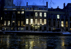 Winter landscape Amsterdam stock photos