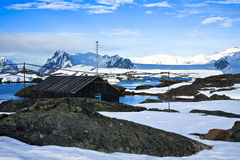 Winter landscape in Antarctica Royalty Free Stock Images