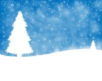 Winter landscape background Stock Images