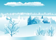 Winter landscape background Royalty Free Stock Image