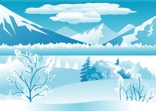Winter landscape background Royalty Free Stock Photo