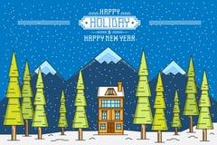 Winter landscape background Stock Photos