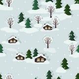 Winter landscape background royalty free illustration
