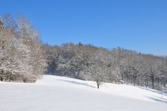 Winter landscape in Bavaria Royalty Free Stock Images