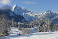 Winter landscape in bavaria Stock Photos