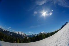 Winter landscape in the bavarina mountain stock image