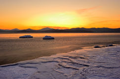 Winter landscape of a bay of Vladimir-3 Royalty Free Stock Images