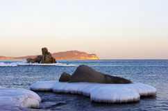 Winter landscape of a bay of Vladimir-7 Royalty Free Stock Photos