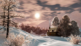 Winter landscape. With beautiful atmosphere Royalty Free Stock Photography
