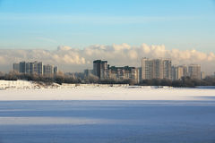 The winter landscape. Beautiful city, winter, morning landscape Royalty Free Stock Image