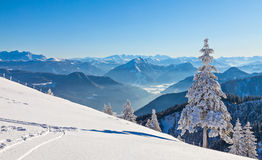 Winter landscape. On a beautiful cold and crisp day in the Bavarian Alps Stock Photos