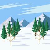 Winter landscape royalty free illustration