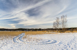 Winter landscape. Beautiful winter day in Finland Stock Photo