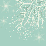 Winter landscape. Beautiful happy new year background vector illustration