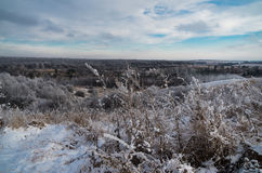 Winter landscape. Beautifull view of winter landscape in Ukraine Royalty Free Stock Photos