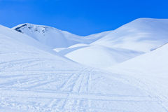 Winter landscape with big snow dunes Stock Photography
