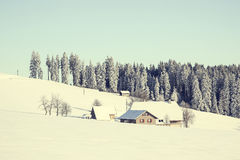 Winter landscape Black Forest Baden Württemberg Germany Royalty Free Stock Photography