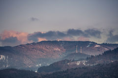 Winter landscape in Black Forest, Germany Royalty Free Stock Photography