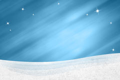 Winter landscape on blue motion blurred sparkle background Stock Images