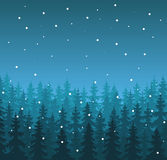 Winter Landscape in Blue Shades Royalty Free Stock Images