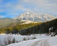 Winter Landscape British Columbia Canada Stock Photo