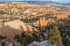 Winter Landscape Bryce Canyon Utah. The scenic landscape of Bryce canyon National park Utah in winter Stock Images