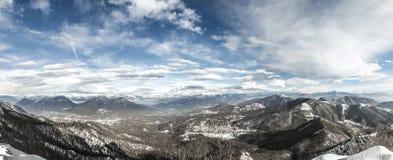Winter landscape, Campo dei Fiori - Varese, Italy Stock Photography