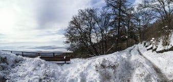 Winter landscape, Campo dei Fiori - Varese, Italy Stock Image