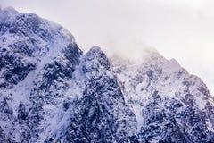 winter landscape with Carpati Piatra Craiului mountain Stock Photos