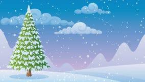 Winter Landscape 2 stock video footage